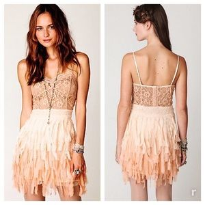 Free People feather, lace and sequin dress S
